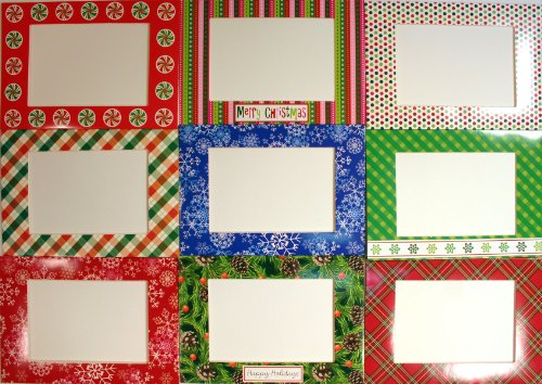 Photo Pocket Frame Holiday Cards  Envelopes -Blank