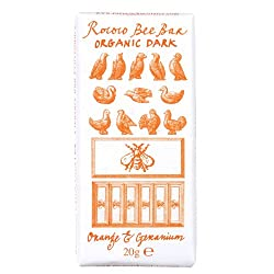 Orange & Geranium Organic Dark Chocolate Bee Bar