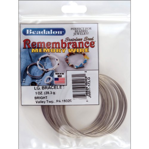Beadalon Memory Wire Bracelet Large Bright, 1-Ounce