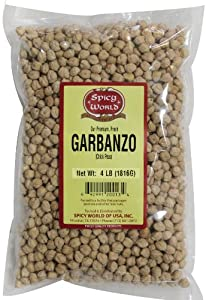 Spicy World Garbanzo Chick Peas 64-ounce Pouches Pack Of 4 from Spicy World