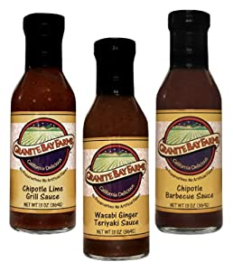 Granite Bay Farms Hot And Spicy Sauce 3 Bottle Collection In Wooden Gift Crate 55-ounce Total from Granite Bay Farms