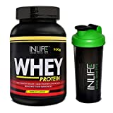 INLIFE Whey Protein Powder with Free Shaker- 2 lb (Mango Flavour)