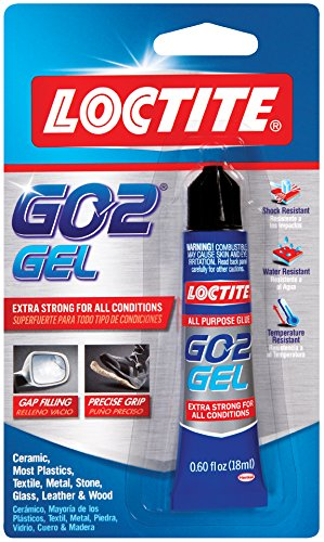 Loctite Go2 Gel Clear Adhesive .60-Fluid Ounce Tube (1832982)