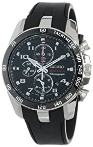 Seiko Men's SNAE87 Sportura Classic Chronograph Watch