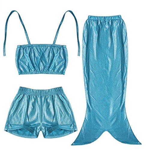 YARBAR Little Girls 3 pezzi principessa sirena di coda costume balneabile bikini Swimwear