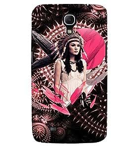 PrintVisa Stylish Cool Girl Tribal Pink 3D Hard Polycarbonate Designer Back Case Cover for Samsung Galaxy Mega 6.3