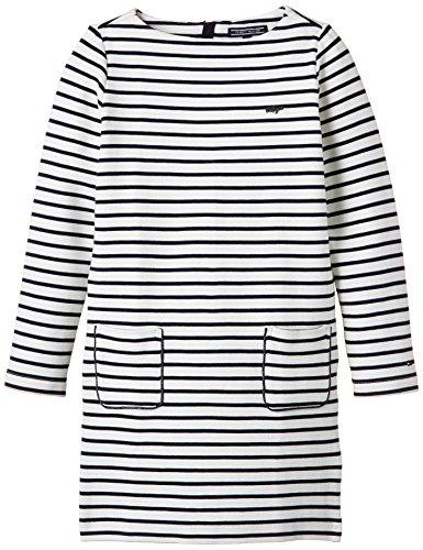 Tommy Hilfiger Mädchen, Bademantel, Miley Knit Dress L/S, GR. 104 (Herstellergröße: 4 Years), Blau (navy)