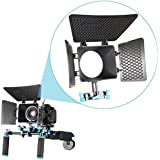 NEEWER® Matte Box for 15mm Rail Rod Suppot Follow Focus Rig System for DSLR Camera such as Canon 60D 5DII 1D3 D90 550D/T2i 600D/T3i 650D/T4i 7D, Nikon D3100 D7000 D700