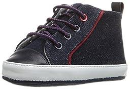 Tommy Hilfiger Kids Lil Mike Infant Shoe (Infant/Toddler), Dark Blue Denim, 2 M US Infant