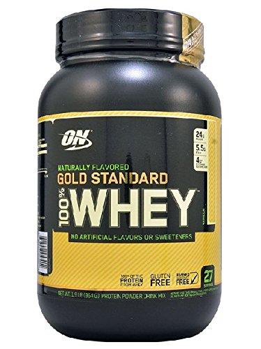 Optimum Nutrition 100% Whey Gold Standard Natural Whey, Vanilla, 1.9 lbs Image