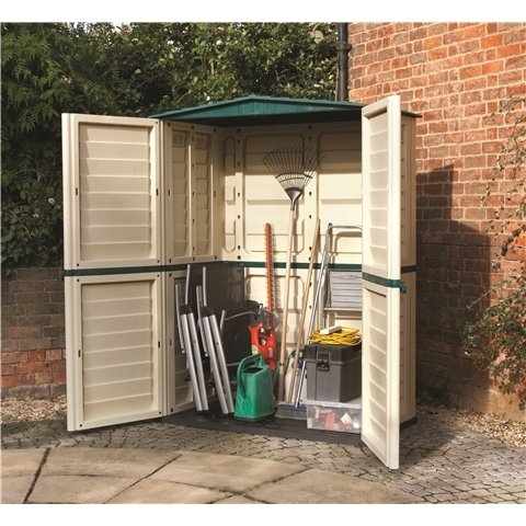 5FT x 3FT PLASTIC TALL SHED