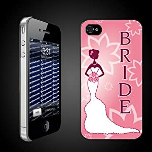 Bride to Be iPhone Design Pink BRIDE CLEAR Protective iPhone 4/iPhone 4S Hard Case
