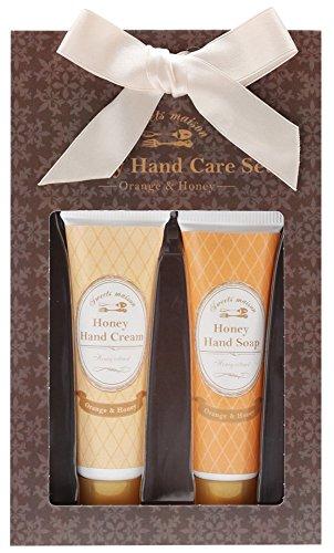 ノルコーポレーション ハンドクリーム ハンドソープ ハニーハンドケアセット オレンジ&ハニーの香り OB-SMP-7-1