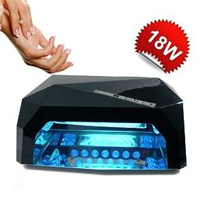 LAMPADA FORNETTO UV 18W CCFL 6W LED CON TIMER RICOSTRUZIONE UNGHIE NAIL 015223: Amazon.it ...