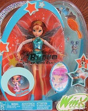 Buy Low Price Mattel Winx Club Fairy Doll Deluxe Figure Bloom with Pixie Friend Lockette (B000A7ZP08)
