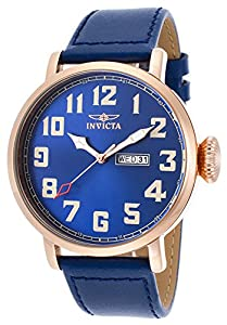 Invicta Men's 18433 Vintage Analog Display Japanese Quartz Blue Watch