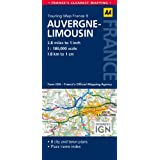 AA Road Map Auvergne & Limousin (AA Touring Map France 09) (Road Map France)