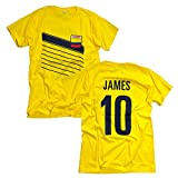 RE-TAKE ハメス・ロドリゲス Colombia James 10 Tシャツ イエロー (M)
