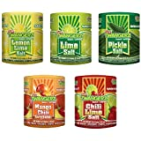 Twang Twangerz Flavored Salt Snack Topping Lemon, Lime, Pickle, Chili & Mango (Assorted 10 Pack)