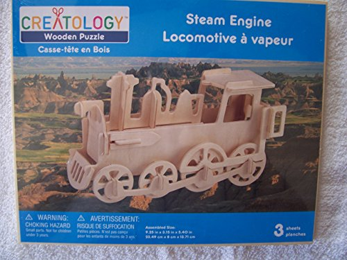 Creatology Wooden 3D Puzzle, Locomotive Steam Engine (1 Each)