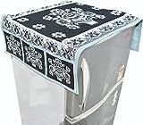 Nisol Black Pot Mandala Fridge Top Cover