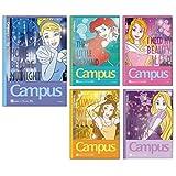サンスター キャンパスノート ドットA罫 5冊パック ディズニー プリンセス S2624940
