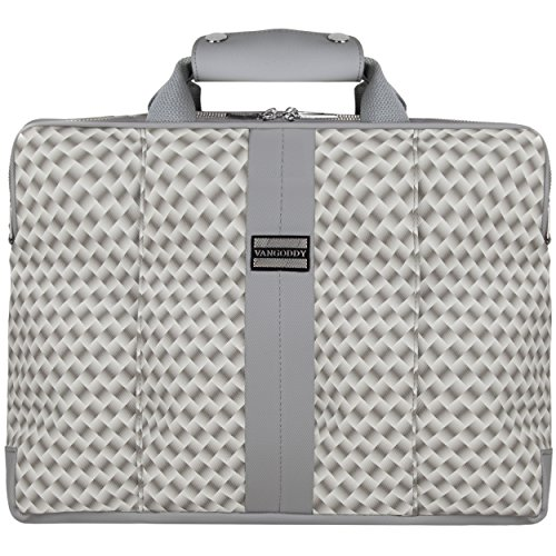 Click to buy VanGoddy Argyle Gray Laptop Messenger Bag for Fujitsu Lifebook / Stylistic - From only $39.99
