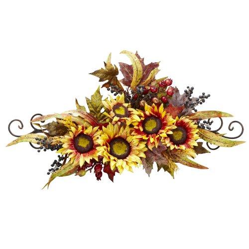 Sunflower Swag Metal Frame