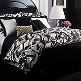 Ralph Lauren Ellington Deco Black White queen full duvet cover set cotton