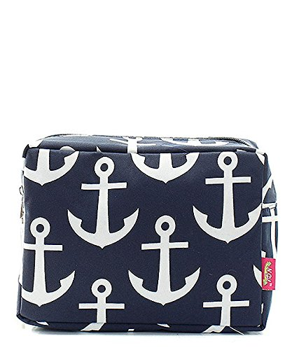 Nautical Anchor Print Small Canvas Cosmetic Travel