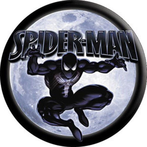 Spider-Man Black Costume - Marvel Comics - Pinback Button 1.5""