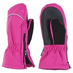 POLARN O. PYRET WINTER EASY ON ZIP MITTENS (BABY) - 1-2 years/Jazzberry
