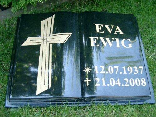 Grabstein Buch Liegestein Grabmal Urnenstein Urnengrabstein Bibel 40cm x 30cm x 6cm inklusive Gravur