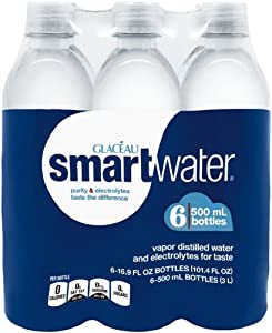 smartwater (6 Count, 16.9 Fl Oz Each)