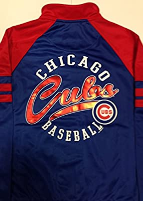 Officially Licensed MLB Chicago Cubs Women's Royal Track Jacket