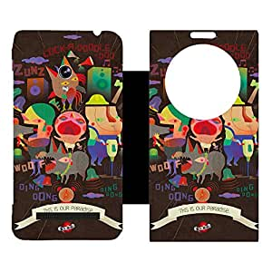 Phone Candy Designer Flip Cover with hi-res printed Vinyl sticker wrap-around for Asus Zenfone 5