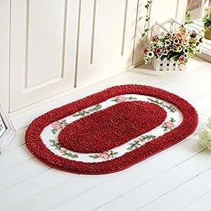 Fatacy Ellipse Round Rose Floral Rug Carpet For Dinning Room Rug Bedroom Rug