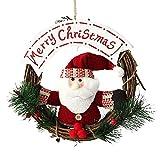 DRASAWEE(JP)クリスマス飾り クリスマスリース 直径20cm おしゃれ クリスマスオーナメント 部屋 玄関 店舗 インテリア用 サンタ