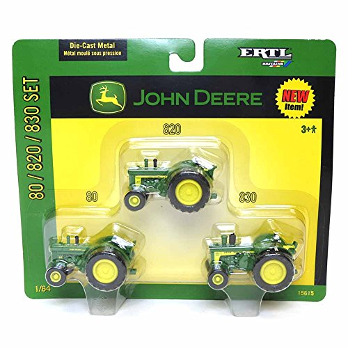 1/64th John Deere 3 Piece Set 80/820/830 - 1