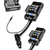 LUPO 3 in 1 Universal All Channel FM Transmitter Car Charger Hands Free Kit for iPhone 5, 5S - BLACK