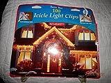 Christmas Icicle Light Clips Shingle Light Clips Gutter Hooks 100 Clips in Pkg