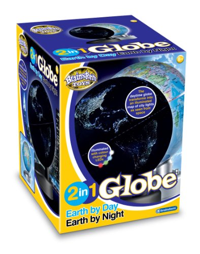 Brainstorm - Globo terrestre in versione diurna e notturna