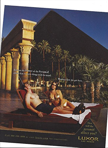 **PRINT AD** For Luxor Hotel Las Vegas How Will the Pyramid Affect You **PRINT AD** (Luxor Hotel Las Vegas compare prices)