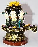 "Odishabazaar 7"" Shiva Shivling Idol God Figurine Polyresin Three Face Shivlingm Statue"