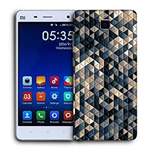 Snoogg Small Triangle Pattern Design Printed Protective Phone Back Case Cover For Xiaomi Mi 4