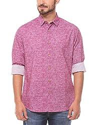 Shuffle Men's Casual Shirt (8907423018273_2021513301_X-Large_Red)