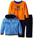 Nautica Babys Infant 3 Pack Fleece Zip Set, Med Blue, 18 Months