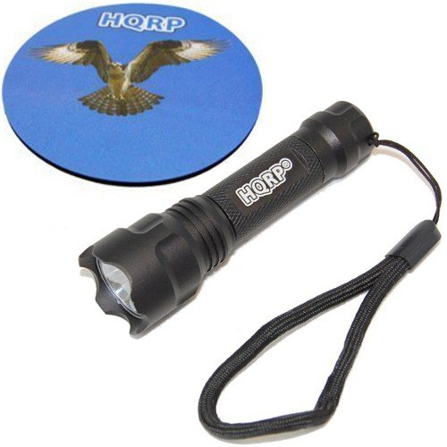 Hqrp Compact / Portable Ultra Bright Flashligh With High Power Led 0.5 Watts For Opera / Theater + Hqrp Coaster