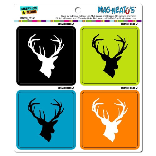 Graphics And More Deer Hunter Hunting Mag-Neato'S Automotive Car Refrigerator Locker Vinyl Magnet Set front-613285