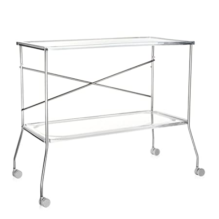 Flip Tea-Cart transparent/plastic/frame metal